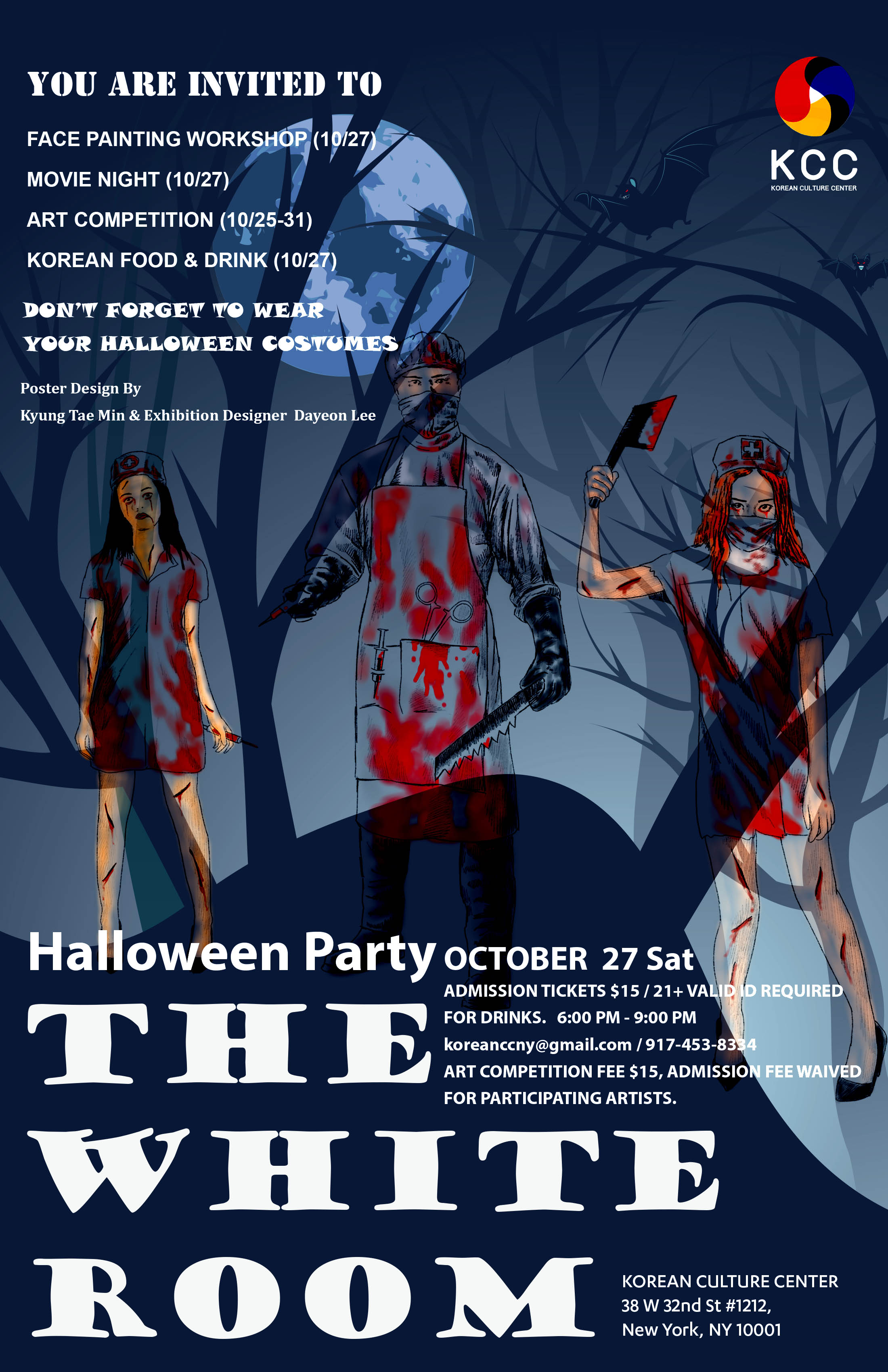 korean culture center halloween party & art competition | americans