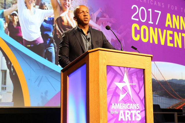Bryan Stevenson gives the opening keynote at Annual Convention.