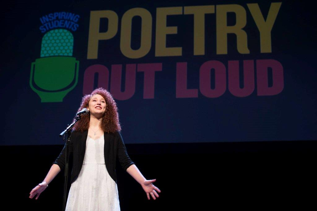 Maddie Lukomski performs at the 2016 Poetry Out Loud national competition.