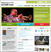 preview Arts Action Fund website