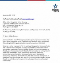 Americans for the Arts Files Federal Comment In Support of Arts-Based Community Development