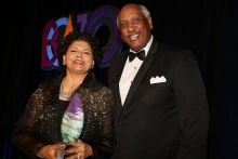2018 Leadership Award Winner Chandrika Tandon and Business Committee for the Arts Chair Edgar Smith