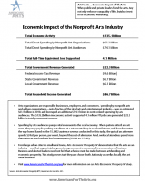 Economic Impact of the Nonprofit Arts Industry