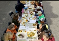 Embedded thumbnail for 2015 Public Art Network Year in Review: 2,000 People Gathered at 1/2 mile Long Table for a Community Meal
